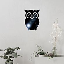 3D Owl Mirror Vinyl Removable Wall Sticker Decal Home Decor Art Black-Black