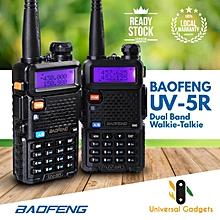 1 Pair (2 Units) Baofeng UV-5R Dual Band Walkie Talkie