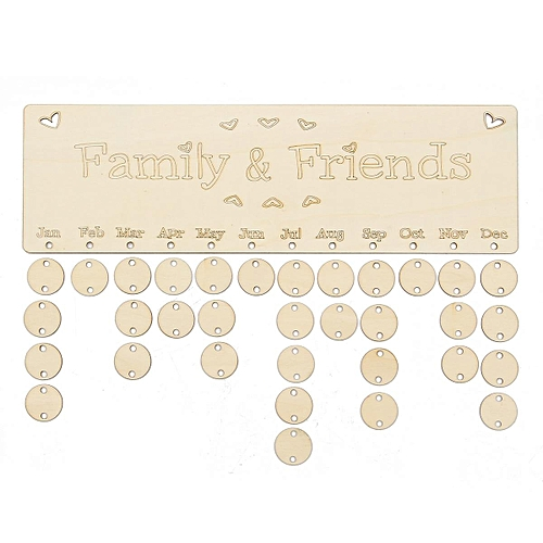 Generic 1Pcs 50 Tags DIY Family&Friends Birthday Anniversary