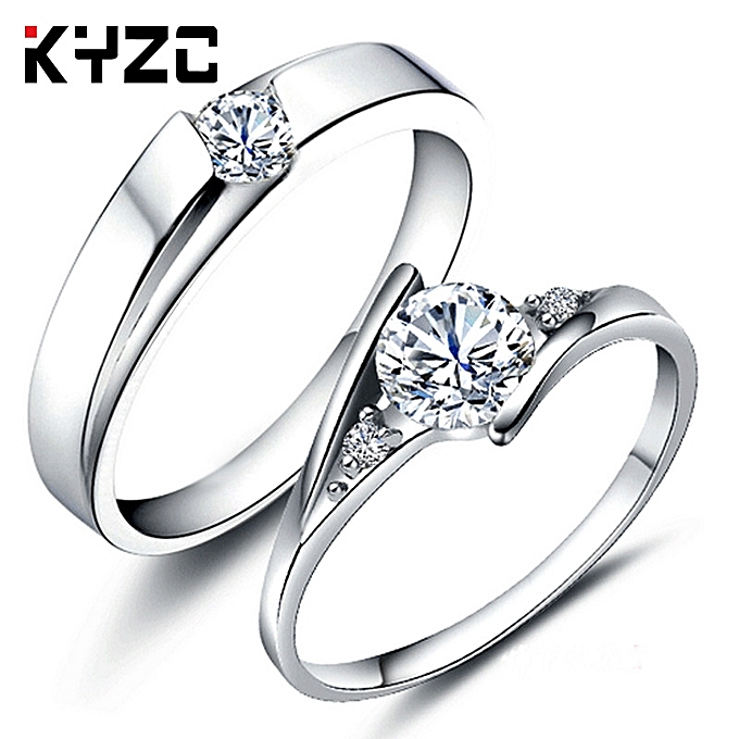 49876de1a9a5a Keep a batch of silver jewelries design Han Ban to open mouth luxurious  lovers ring Gao Tan Zuan to imitate a true diamond ring female to live a ...