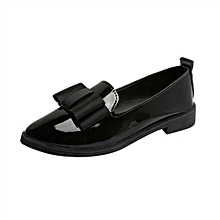 Women Pointed Toe Oxford Shoes Casual Comfortable Slip Flat Shoes BK/35