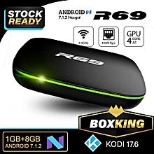 R69 Smart TV Android Box 1GB RAM 8GB ROM with Apps - Black