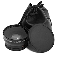 0.45x55MM Fisheye Wide Angle Macro Lens For All Cameras with 55mm size