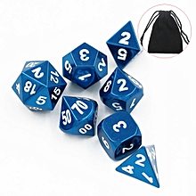 Dungeons and Dragons Dice Set: Blue Chrome Metal Pathfinder D&D, rpg, d20, dnd