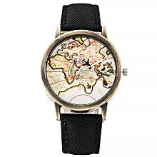 vansvar Women's Casual Quartz Leather Band Newv Strap Watch Analog Wrist Watch-Black
