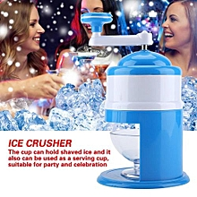 Portable Hand Crank Manual Ice Crusher Shaver Snow Cone Maker Machine Household Kitchen Tool