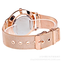 2017 New Fashion Female Clocks Women Luxury Quartz Watch Rose Gold Watch C