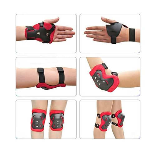 Kids Child Skating Support Protection Gear Set Wrist Guard Elbow Pads Knee Pads