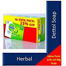 Bar Soap Herbal  -  90g 6 Pack