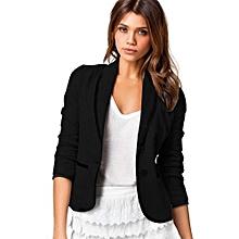 cba8c3d6e7 Plus Size 6XL Formal Jacket Women's Pure Black Female Women Suit Office