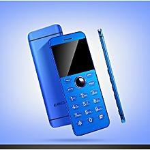 Mini Phone Metal Ultra thin Bluetooth 2.0 Dialer MP3 Dual SIM Card Mini Phone 1.54Inch Phone-blue