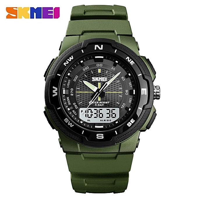 b7253be85 Dual Display Quartz Watch Men Outdoor Sports Watches Digital Electronic Men  Watches Waterproof Top Luxury Male