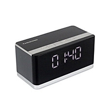 MP-27 Portable Black Bluetooth speaker with Fm Radio,Clock, Alarm,Calendar Mode and a Built in Battery