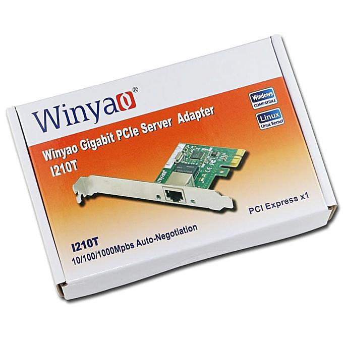 I210T PCI-E X1 Gigabit Ethernet Network Card(NIC), Copper RJ45 Port,PCI  Express 2 1 x1, I210-T1 1000M I210T1 lan i210( )