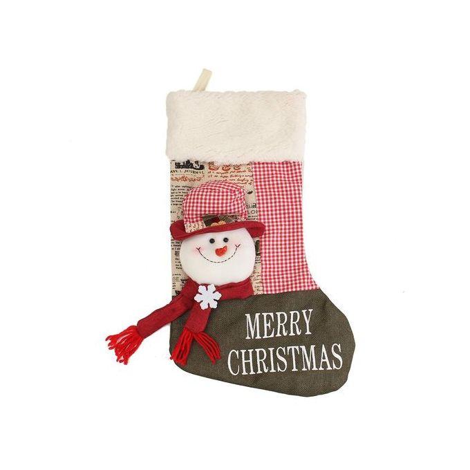 Vintage Christmas Stockings.New Year Vintage Christmas Stocking Snowman Plaid Bag Gift Sock Ornament Socks