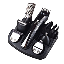 New 6 in 1 Rechargeable Hair Trimmer Titanium Hair Clipper Electric Shaver Beard Trimmer Men Styling Tools Shaving Machine