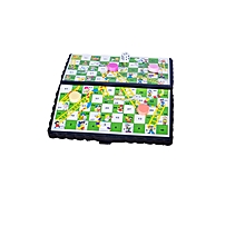 Snake and Ladders Board Game Educational Learning Toy-Pocket Size