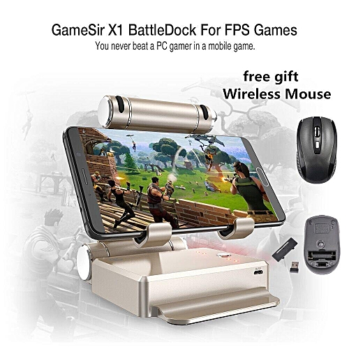 GameSir X1 BattleDock FPS PUBG Game Mobile Controller Mouse and Keyboard  Converter for Android iPhone iPad+free dift Gamepad Trigger xYx-S