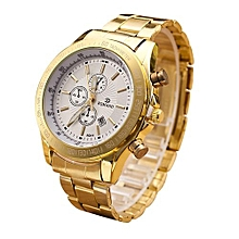 Technologg Watch  Men Stainless Steel Watch Analog Quartz Movement Wrist Watches Silver-Silver