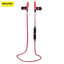 Awei A620BL Wireless Stereo In-ear Sport Bluetooth V4.0 Earphones Hands Free Headphones-RED