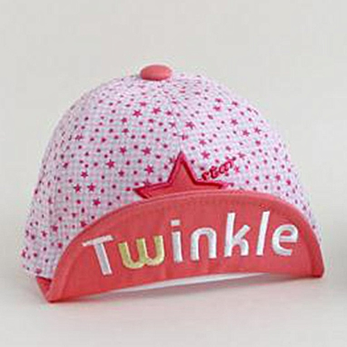ba540108d Five-Star Letter Flip Embroidery Baby Hat Korean New Hat Child Hat Baby Cap  Pink