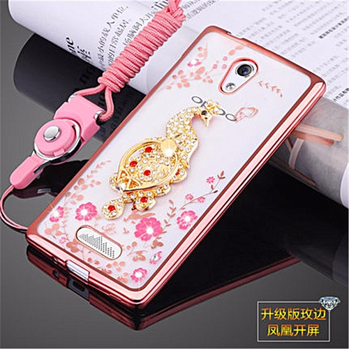 "Generic Rhinestone Phone Case Cover Holder Stand Protective Ultra-thin Silicone Soft Case For Oppo R2001 Yoyo /Oppo R2017/R2010 4.7"" Inch Case @ Best Price ..."