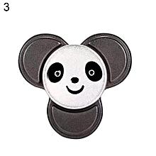 Kids Adult Panda Ceramic Bearing Fidget Hand Spinner Alloy Figure Toy (Black)
