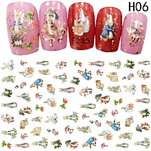 Hequeen Nail Multicolor Water Transfer Sticker Nail Stickers Cartoon Animation Cat Animal Stickers Wraps Decoration Flower Fruit Nail Art