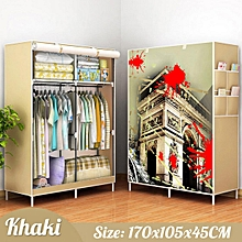 Large Portable Clothes Closet Canvas Wardrobe Storage Organizer 170x105x45CM