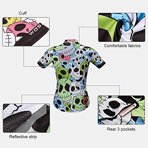 Generic Men s Summer Cycling Jersey Breathable Short Sleeve Full Zip Bike  Shirt MTB Bicycle Riding Jersey d1420c831
