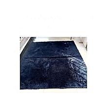 Fluffy Floor Carpet- 5 by 7 ft-Navy Blue