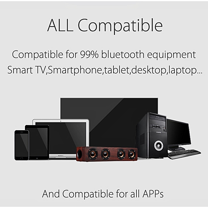 Home Theatre Hifi Wooden Wireless Bluetooth Speaker Subwoofer Combination Speaker System Bass Music Center Sound Bar For Tv Pc Hs Mall