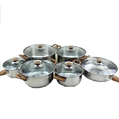 Buy Kitchen Pro Pure Stainless Steel Cookware Set Silver Best