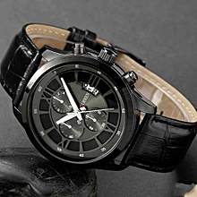 Fashion Curren Brand Business Black Man Wrist Watch Date Genuine Leather Waterproof Casual Wristwatch Male Relojes Hombre