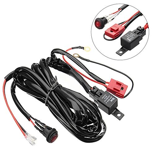 12V 40A LED Work Fog Light Bar Wiring Harness Relay Kit ON/OFF Switch Ke Light Relay Wiring on