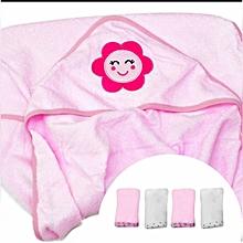New born towel set with WashCloths, Organic Cotton Soft & best for Newborn Sensitive Skin Baby Wipe, Set of 5