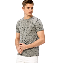 Grey Fashionable Skinny T-Shirt