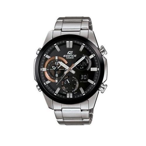 Edifice Men's Quartz Silver-Tone Bracelet 45mm Watch ERA-500DB-1A