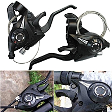 1 Pair 3x7 21Speed MTB Bike Bicycle Trigger Gear Shifters with Inner Shift Cable
