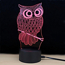 Shining Td182 Led Lamp 7 Color Changing LED 3D Lamp Owl Touch Atmosphere Night Light COLORFUL