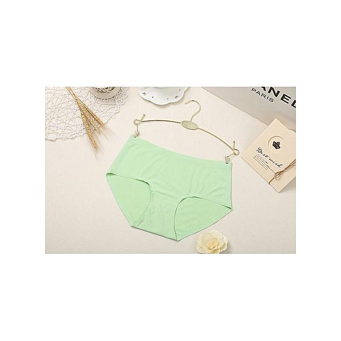 243bdbc24f0 One-piece seamless underwear pure color seamless briefs large size waist  women s underwear-green