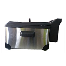 6L DEEP FRYER- BLACK AND silver