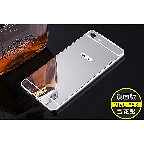 pretty nice dff02 6e00a Metal Frame Mirror PC Back Cover For Vivo Y53