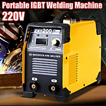 ZX7-200 220V Portable Mini IGBT Inverter DC Welding Machine MMA ARC Welder 200A