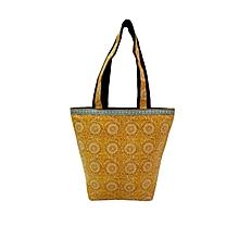 Kalamkari Big Shoulder Bag - Yellow