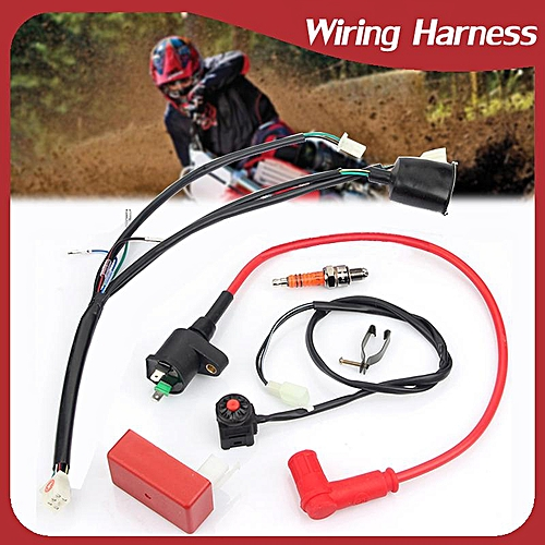 Wire Harness Kit Universal Motorcycle Dirt Pit Bike 50 70 90 110 125 140  150CC