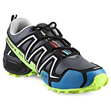 Men Slip Resistance Sports Shoes - White+Green