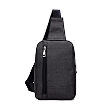 Xiuxingzi men's chest bag Messenger bag casual canvas small backpack bag shoulder bag BK