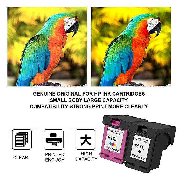 HP 3pcs Ink Cartridge for HP 61 61XL Officejet 4630 2620 Deskjet 1000 2000  3000 multicolor