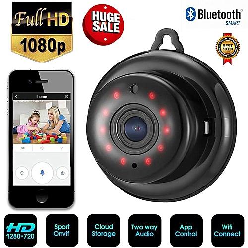 Letu Hight Quality V380 Wifi Wireless 1080P HD IP Security Camera IR Night  Vision Camera CCTV Mini Camera (Black
